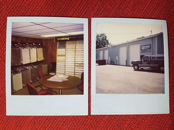 Columbo's Commercial Carpet, Inc. vintage showroom photos