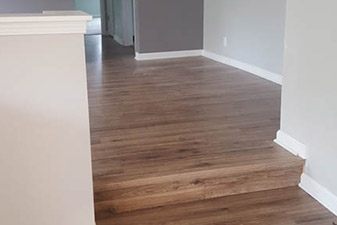 Restoration Project by Columbo's Floors To Go. Come visit our showroom in Jenison, Michigan!