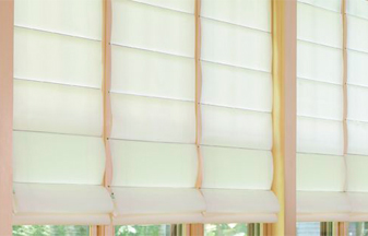 Roman shades are a great blind & shade solution for your windows.