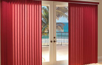 Vertical Blinds are a great blind & shade solution for your windows.