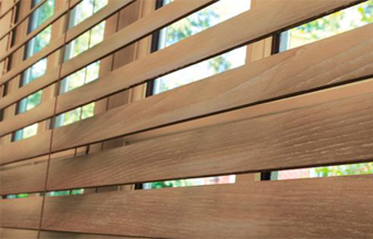 Wood & Faux Wood Blinds are a great blind & shade solution for your windows.