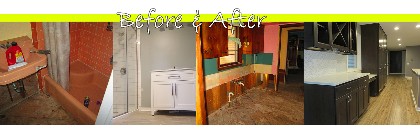 Before and After photos of Columbo's Floors To Go restoration projects.